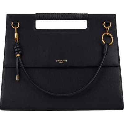 Givenchy Whip Large Leather Satchel - Black