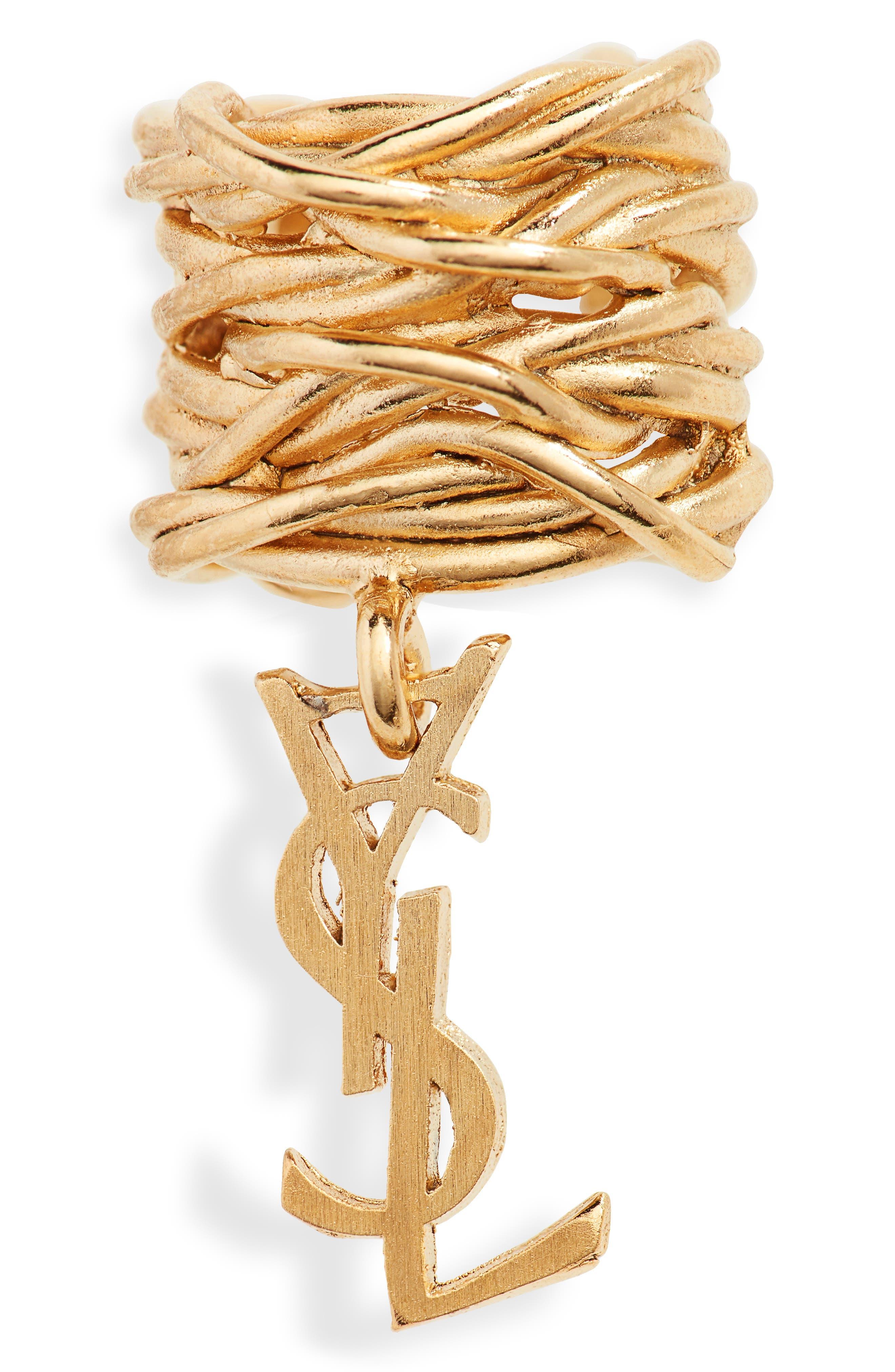 Saint Laurent Jewelry Single Logo Ear Cuff