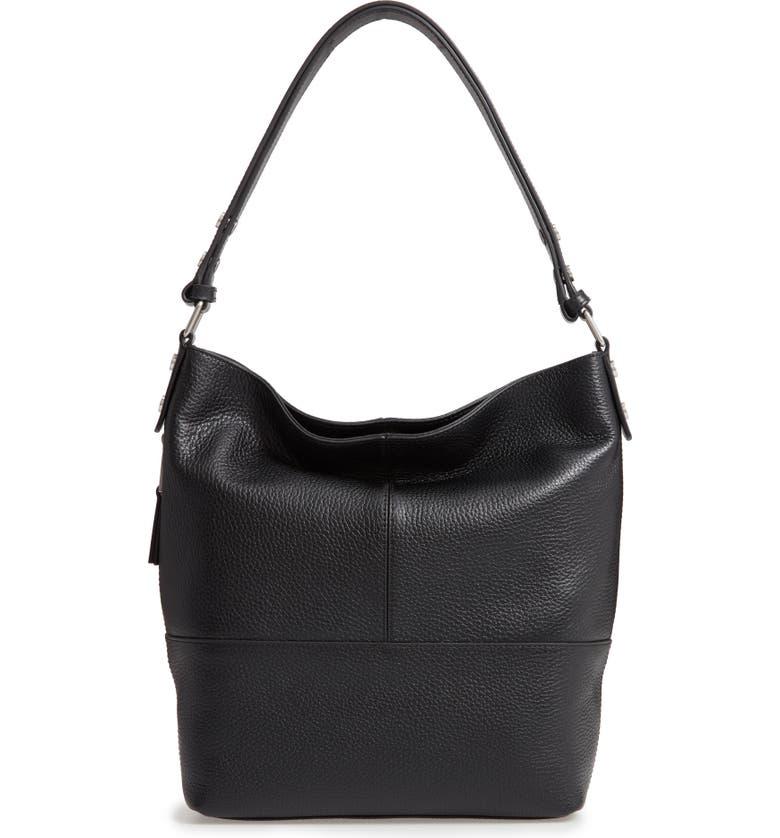 TREASURE & BOND Sydney Leather Convertible Hobo, Main, color, 001