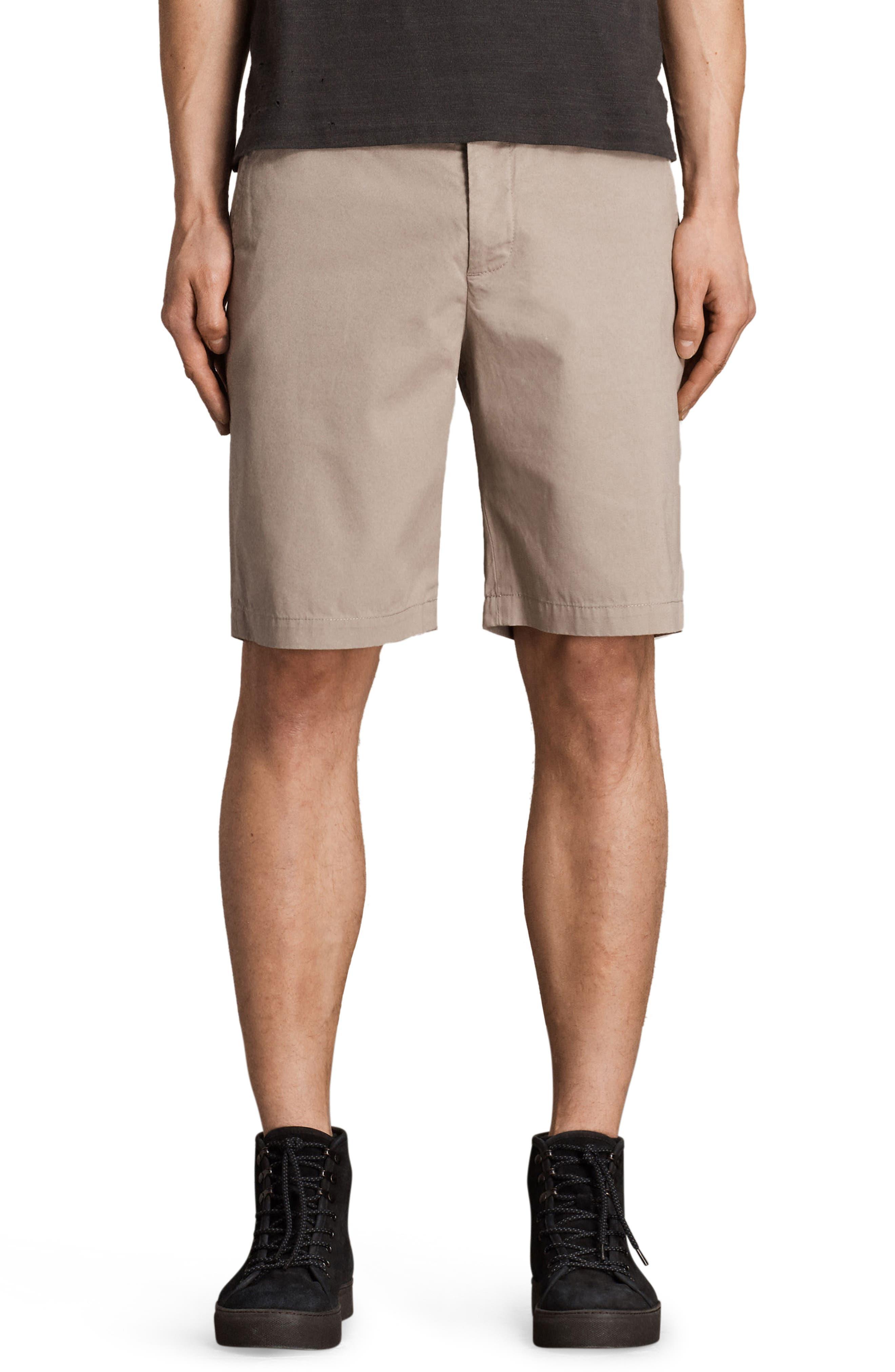 Image of ALLSAINTS Cobalt Slim Fit Cotton Shorts