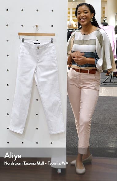 Fray Waist Ankle Straight Leg Jeans, sales video thumbnail