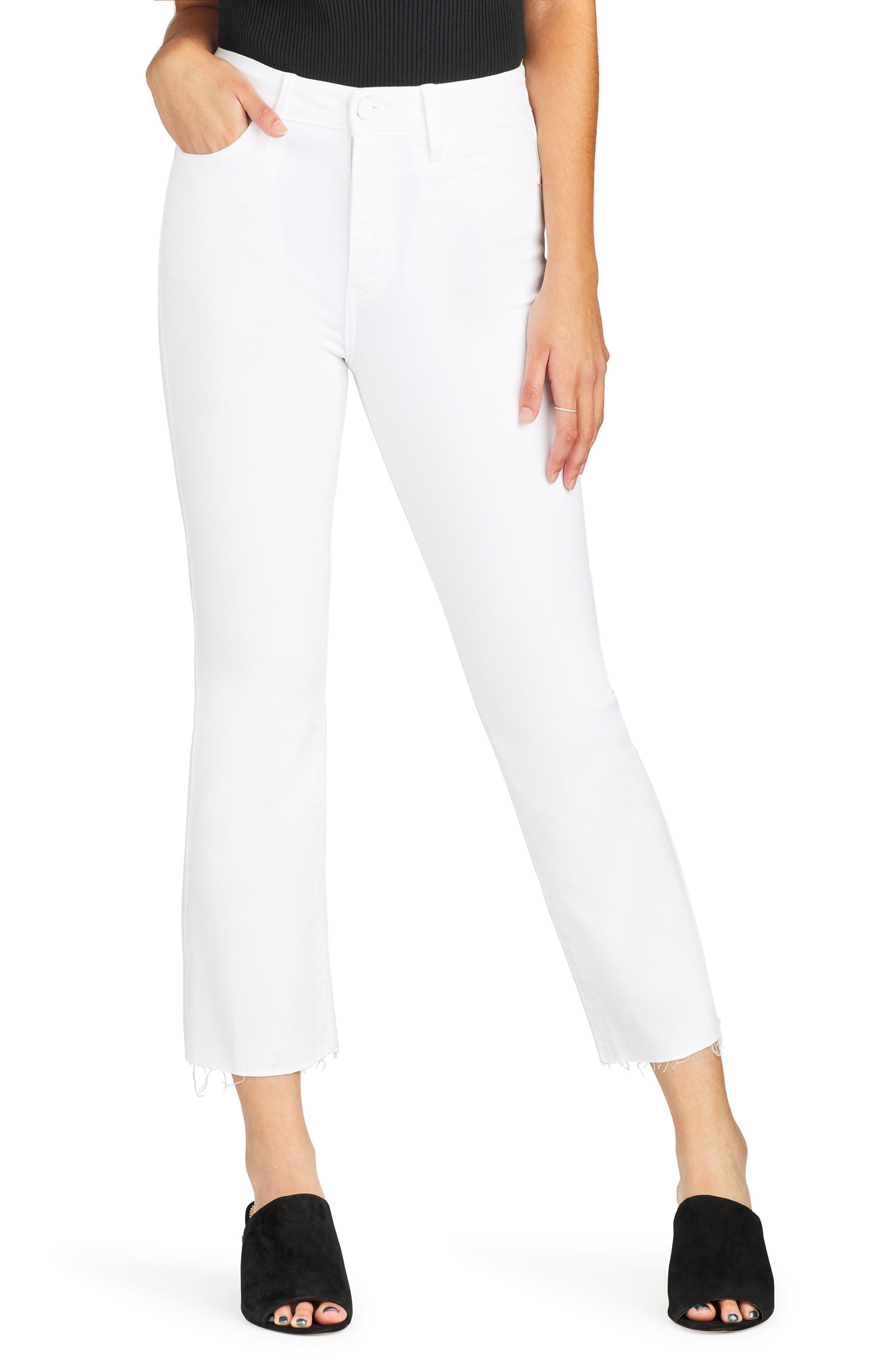 Sam Edelman The Stiletto High Waist Raw Hem Crop Bootcut Jeans (Ornella)   Nordstrom