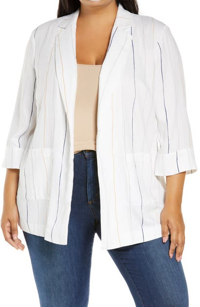 Nic + Zoe LINE UP STRIPE BLAZER