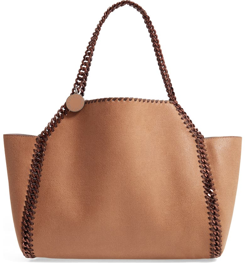 STELLA MCCARTNEY Shaggy Deer Faux Leather Reversible Tote, Main, color, 206
