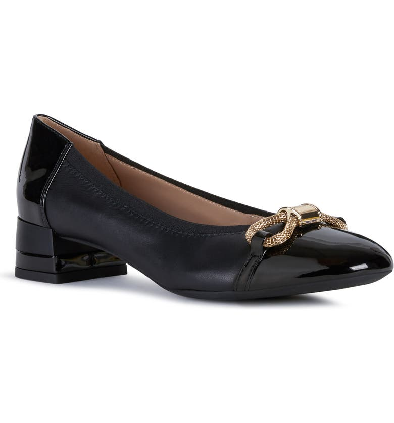 GEOX Chloo Pump, Main, color, BLACK FAUX LEATHER