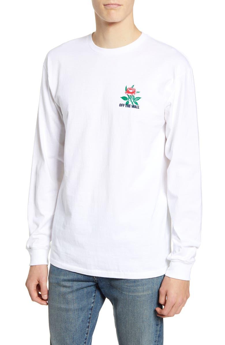 VANS Fluorescent Rose Long Sleeve T-Shirt, Main, color, 100