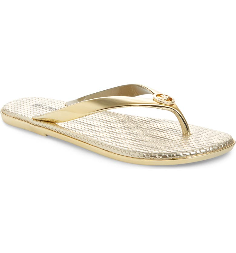 MICHAEL MICHAEL KORS 'Jet Set' Jelly Flip Flop, Main, color, 710