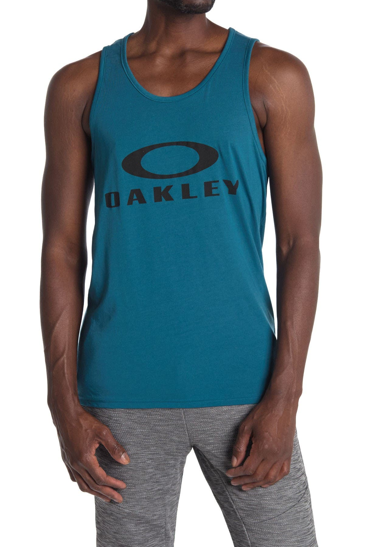 Image of Oakley Bark Logo Print Tank