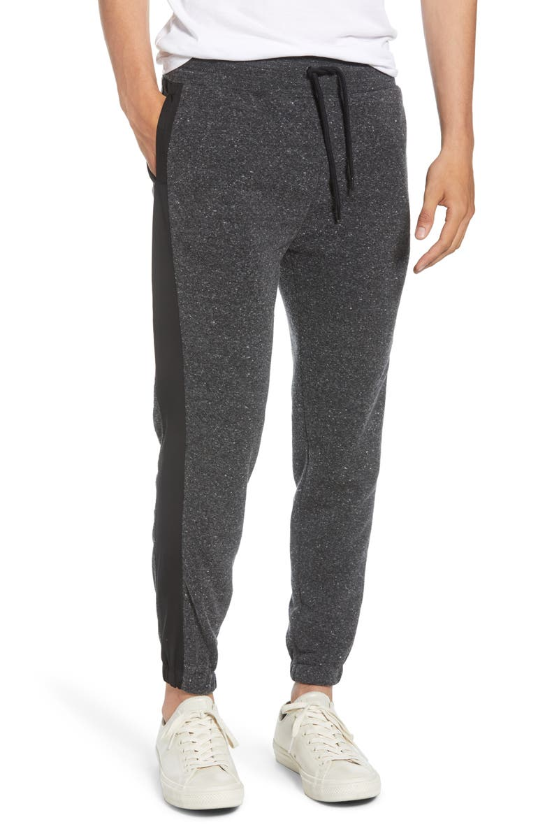 THREADS 4 THOUGHT Marlon Slim Fit Fleece Sweatpants, Main, color, HEATHER BLACK