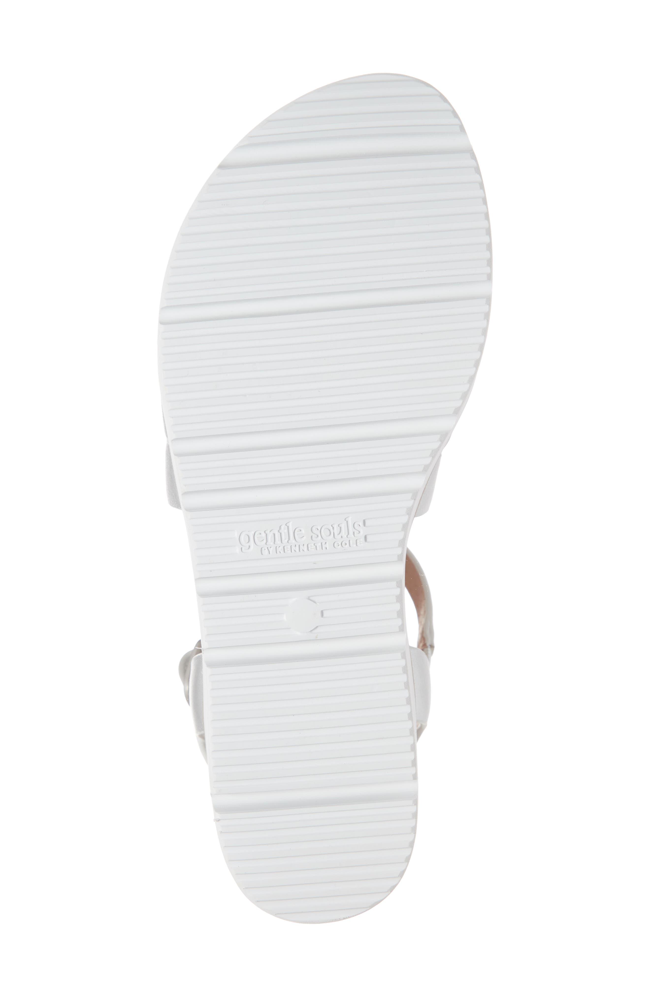 ,                             Lavern Platform Sandal,                             Alternate thumbnail 6, color,                             SILVER METALLIC LEATHER
