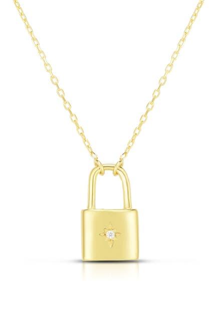 Image of Sphera Milano 14K Gold Vermeil Mini Padlock Pentant Neckace