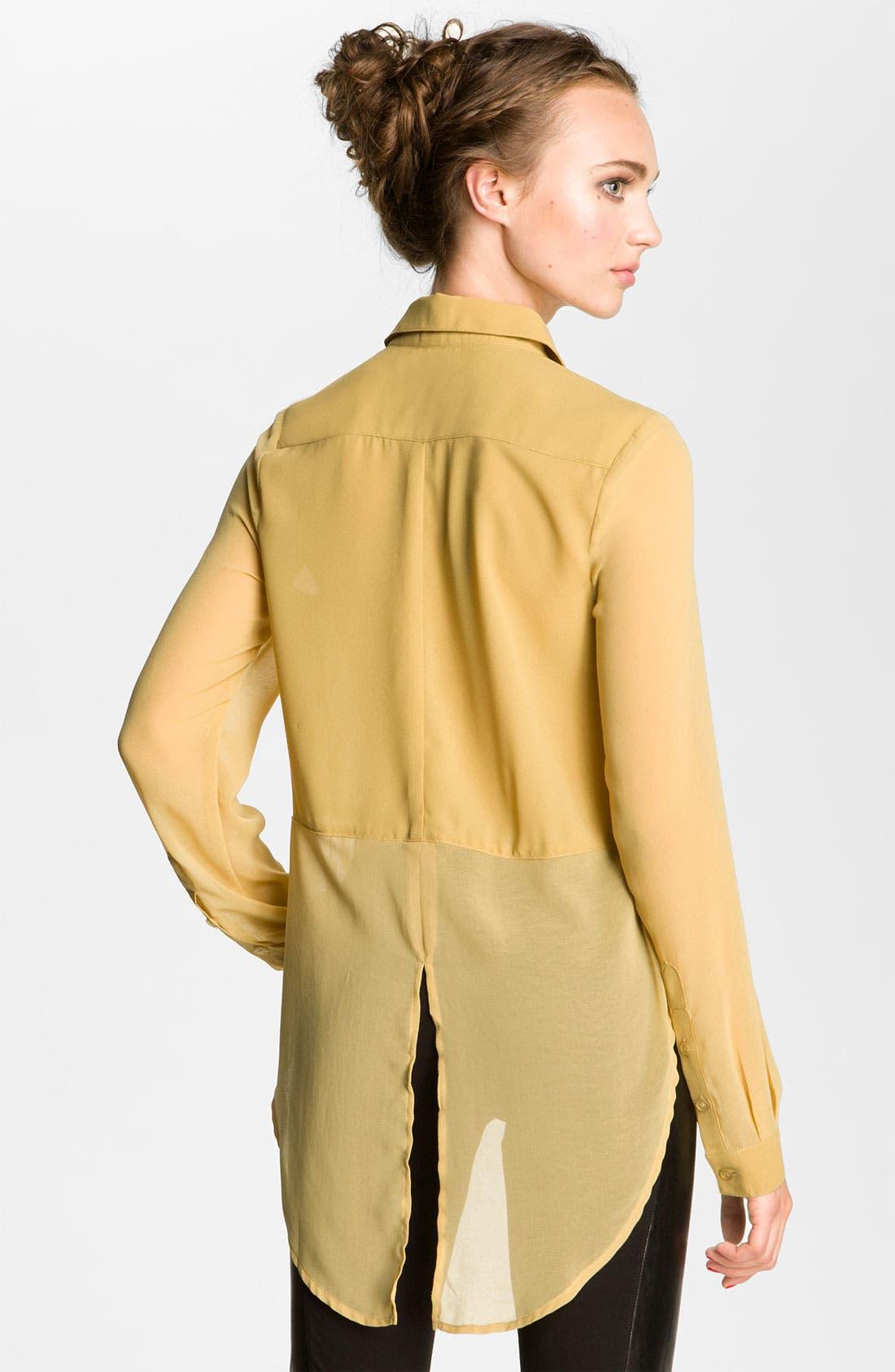 ,                             Lush Sheer Panel High/Low Shirt,                             Alternate thumbnail 18, color,                             703