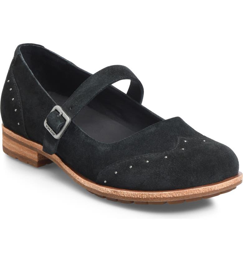 KORK-EASE<SUP>®</SUP> Brystal Mary Jane Flat, Main, color, BLACK SUEDE