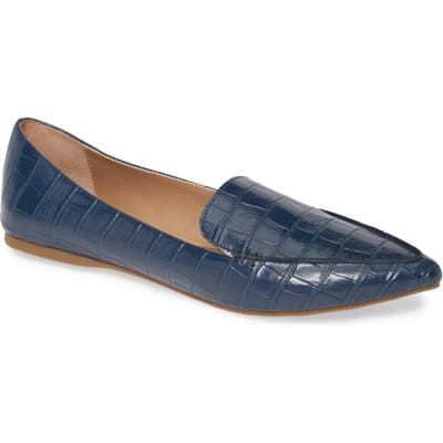 Steve Madden Feather Loafer Flat- Blue