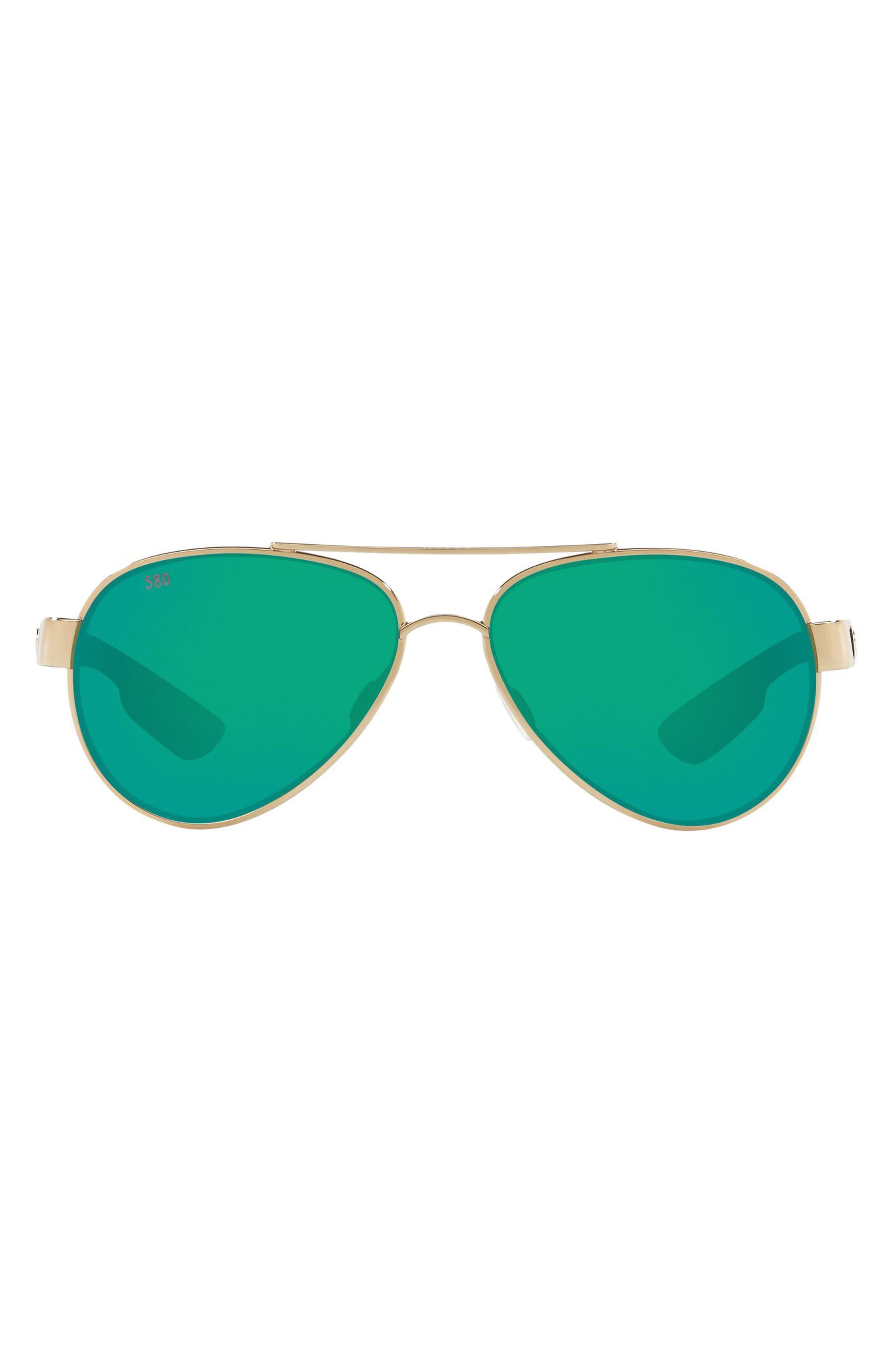 Loreto 56mm Mirrored Polarized Pilot Sunglasses
