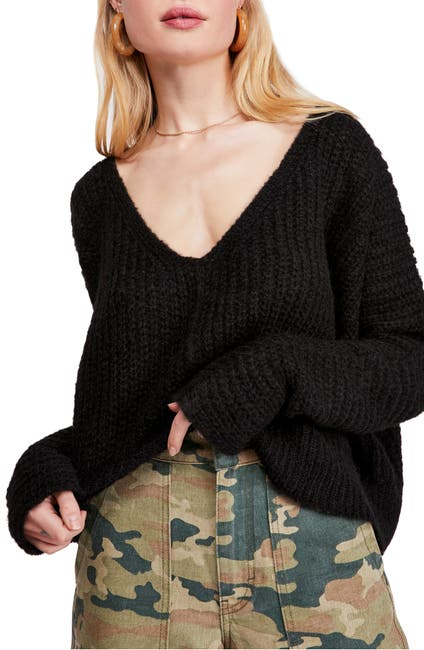 Image of Free People Moonbeam V-Neck Sweater