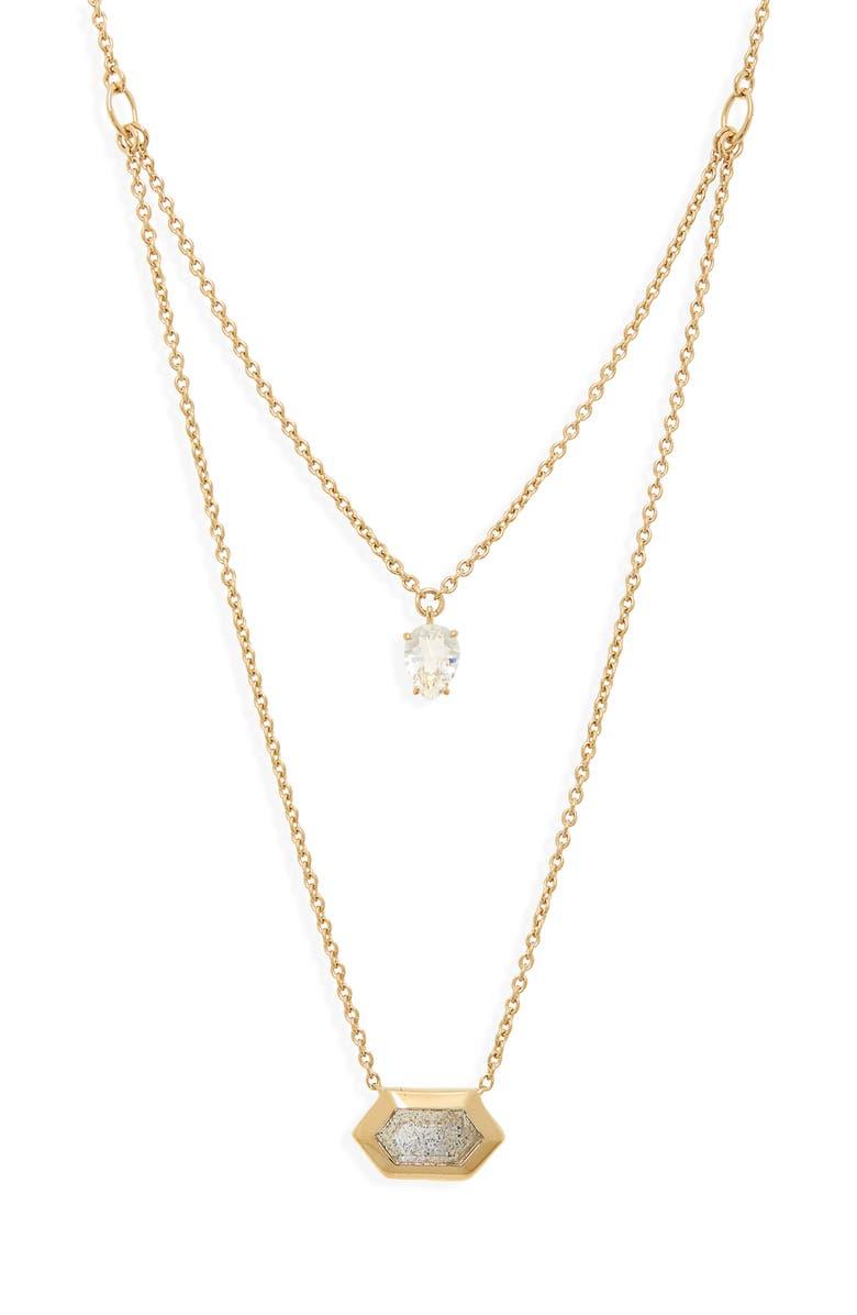 NADRI Venice Layered Pendant Necklace, Main, color, GOLD