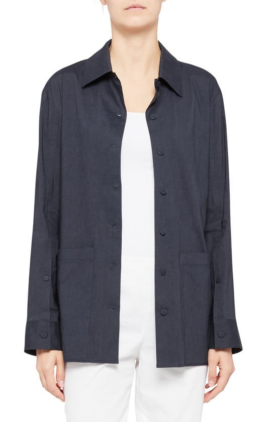 THEORY Linens FRONT BUTTON TIE JACKET