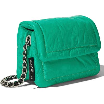 The Marc Jacobs The Mini Pillow Leather Shoulder Bag - Green