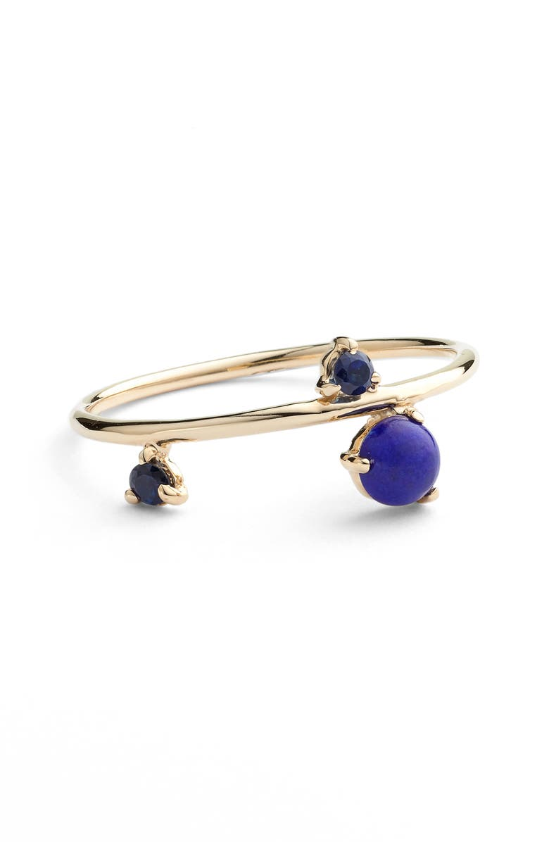 WWAKE Counting Collection Three-Step Balloon Lapis & Sapphire Ring, Main, color, 710