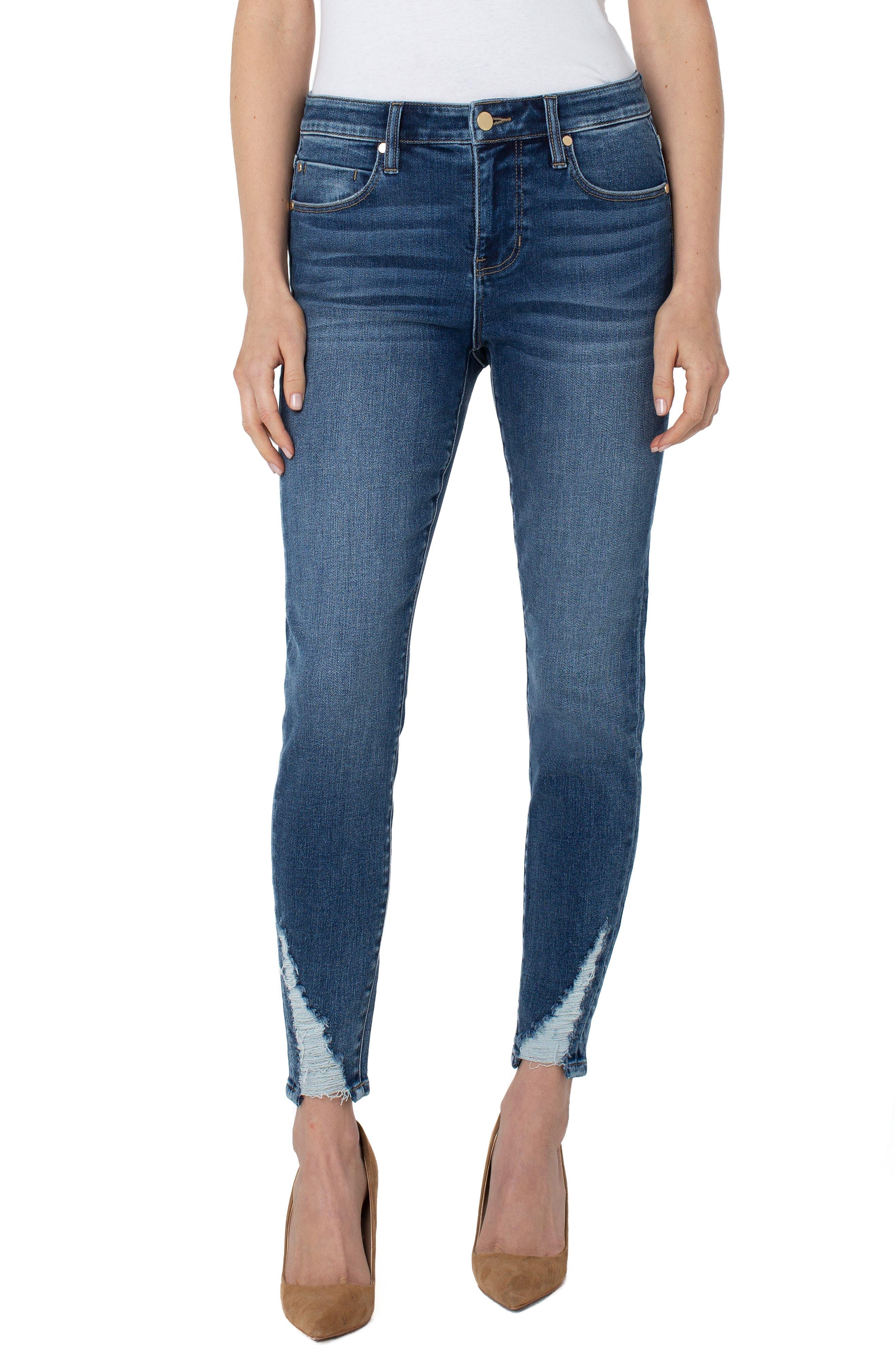 Abby Shredded Ankle Skinny Jeans