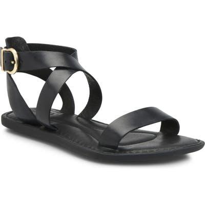 B?rn Oak Ankle Strap Sandal, Black