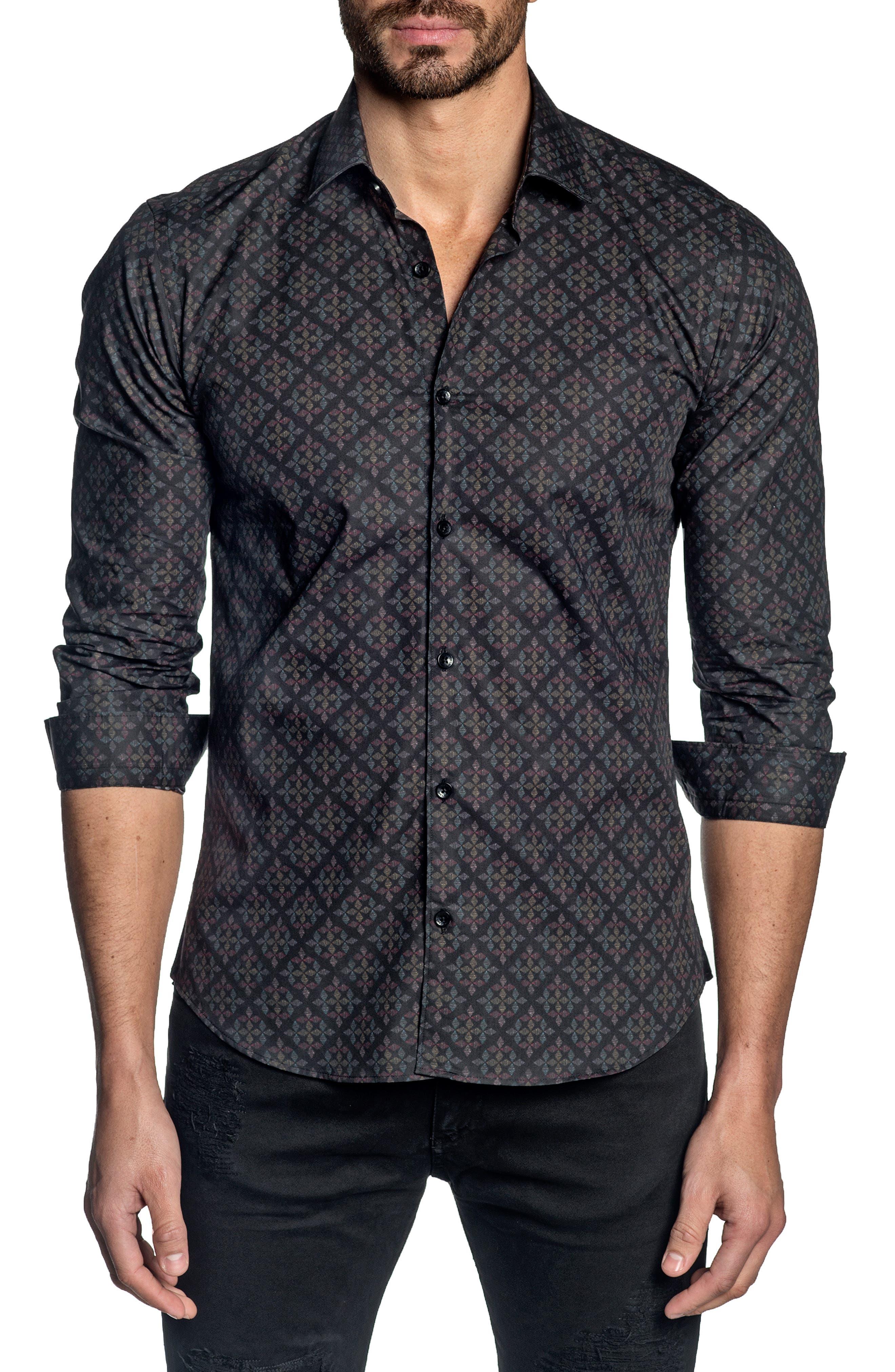 Trim Fit Button-Up Shirt