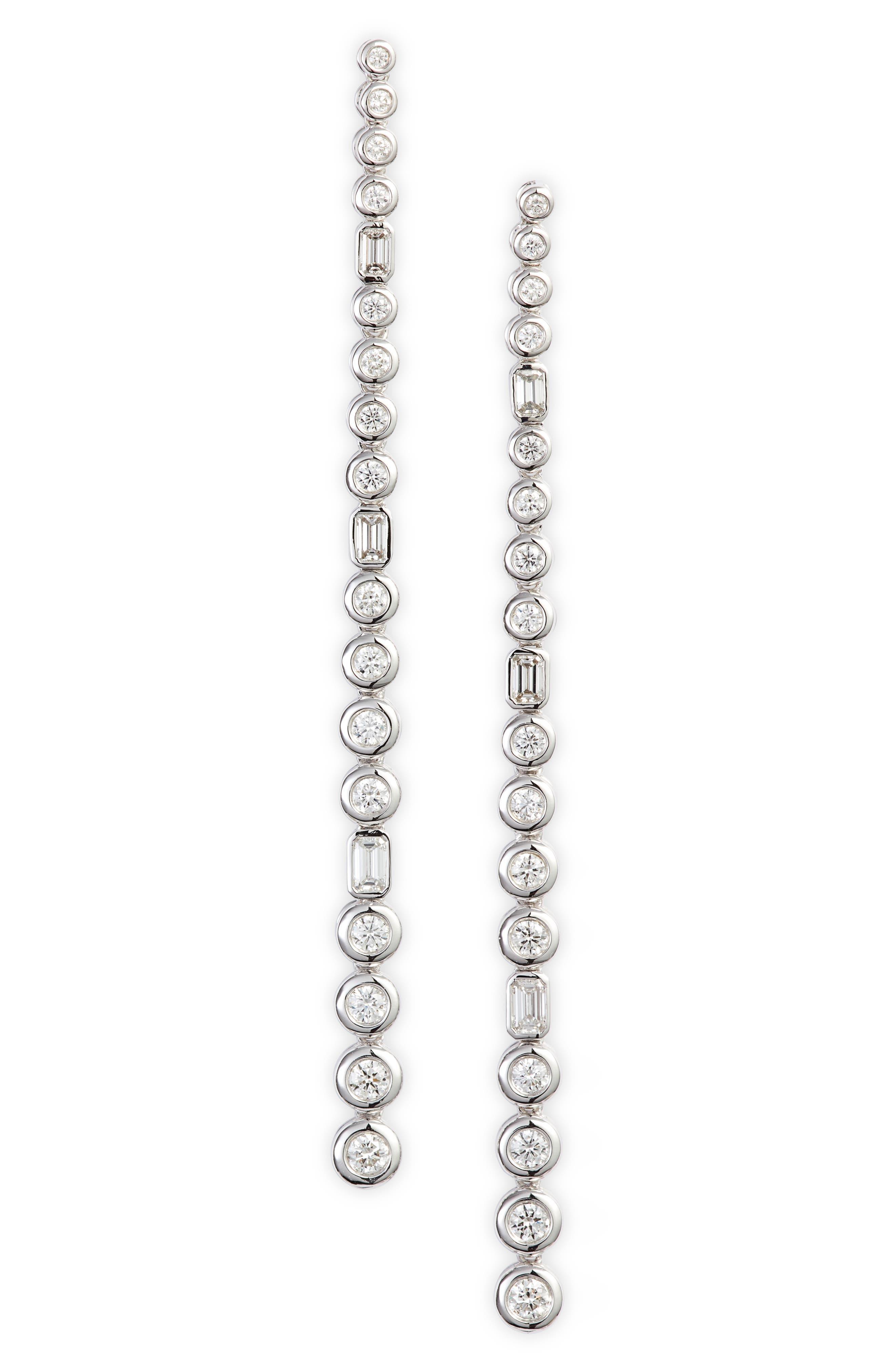 Monaco Mixed Diamond Linear Earrings (Nordstrom Exclusive)