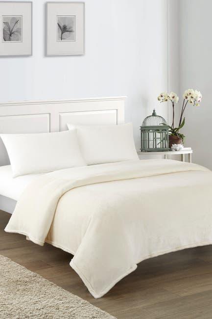 Image of Chic Home Bedding King Savaya Fleece Blanket - Beige