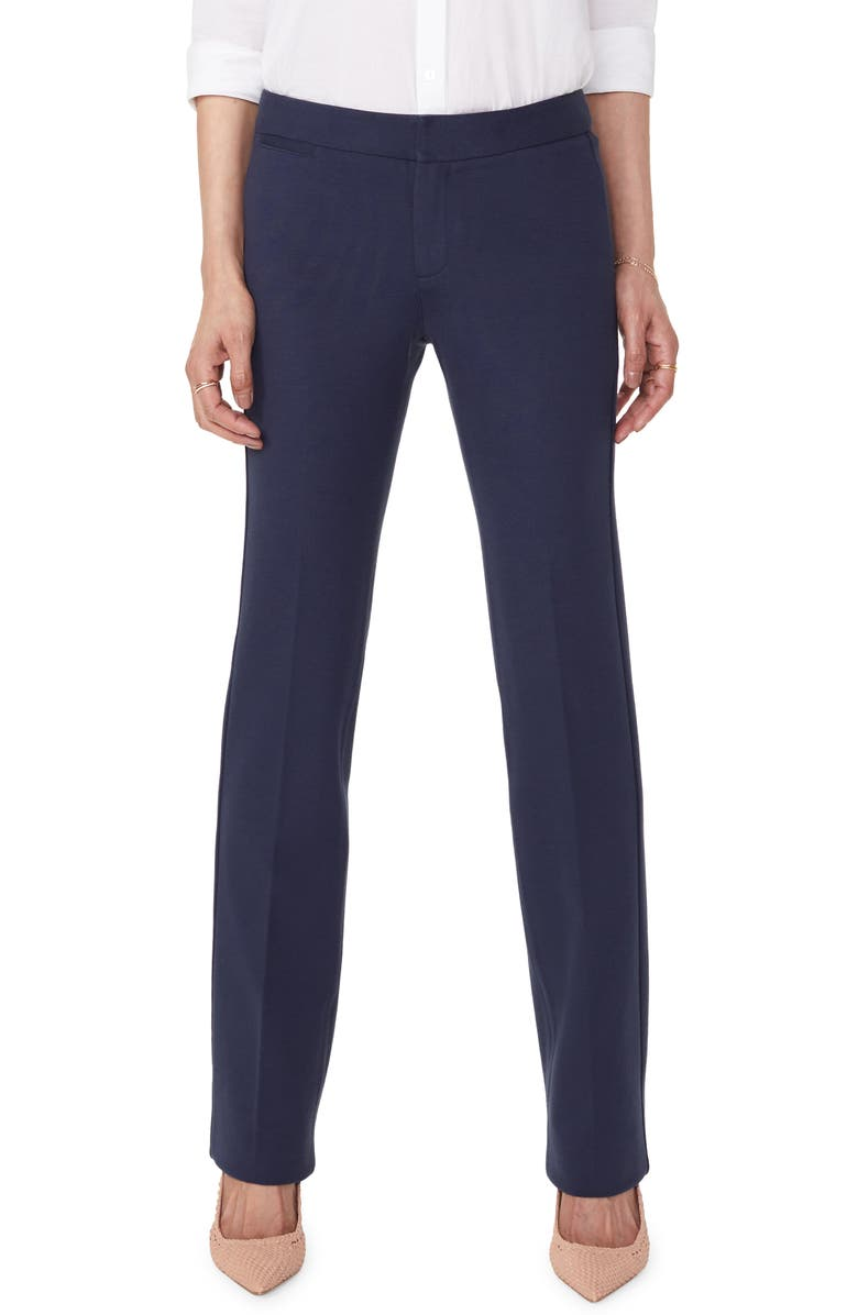 NYDJ Stretch Knit Trousers, Main, color, EVENING TIDE