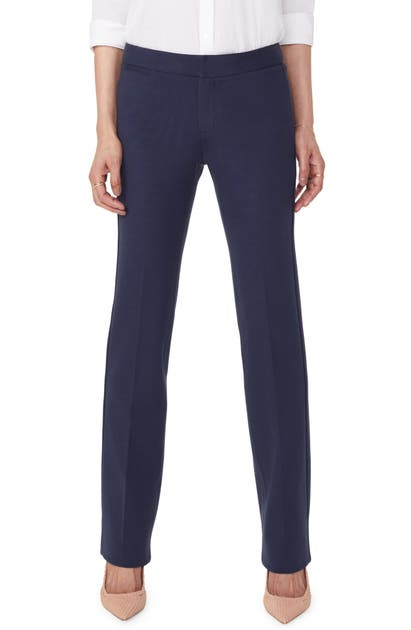 Nydj Stretch Knit Trousers In Evening Tide