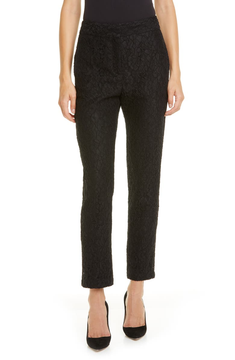 VERONICA BEARD Gemini Lace Pants, Main, color, BLACK