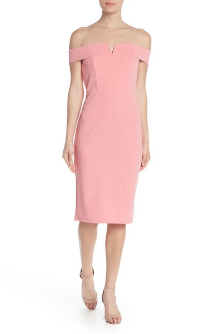 Image of Love by Design Off-the-Shoulder Wired Notch Midi Dress