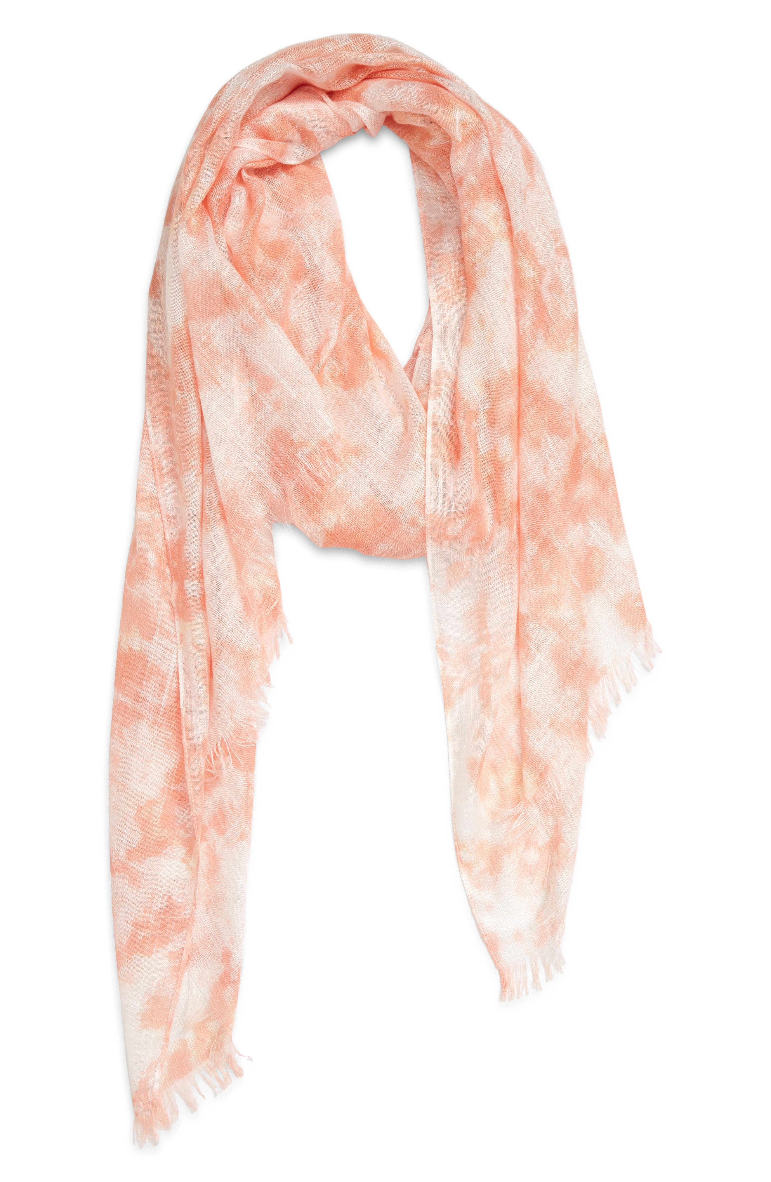 Flowery prints and color-blocked borders detail a gauzy viscose scarf with soft fringe trim. When you buy Treasure & Bond, Nordstrom will donate 2.5% of net sales to organizations that work to empower youth. Style Name: Treasure & Bond Relaxed Scarf. Style Number: 5970158. Available in stores.