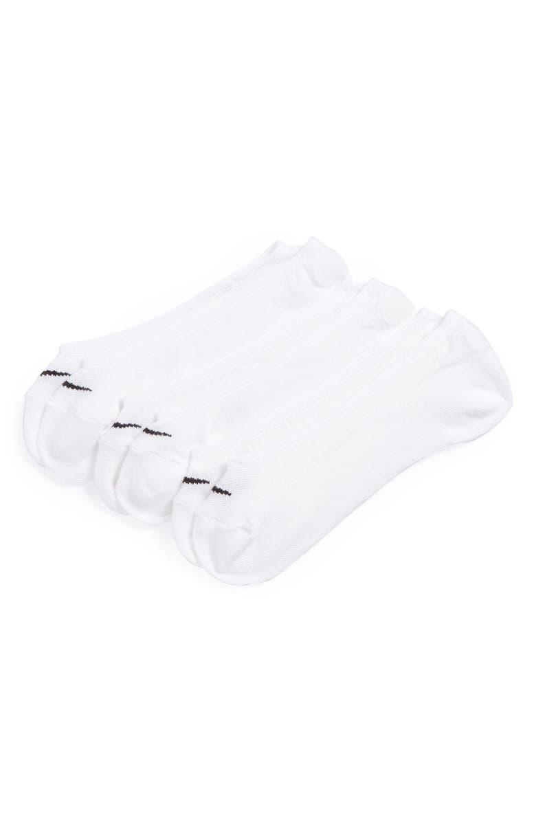NIKE 3-Pack No-Show Socks, Main, color, WHITE/BLACK