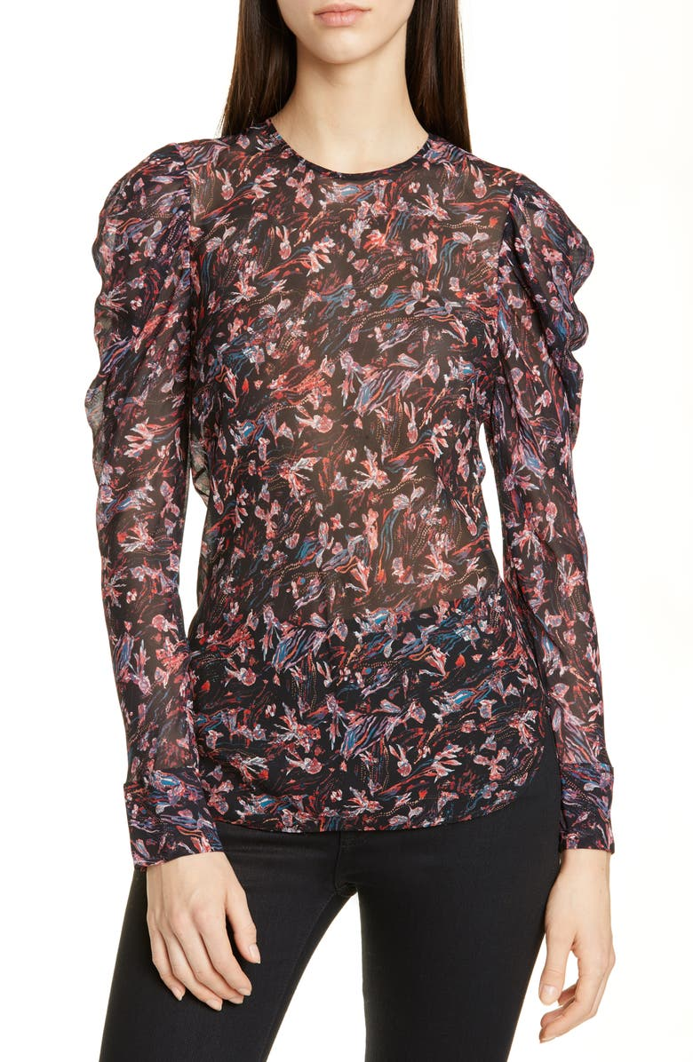 Lou Floral Puff Sleeve Blouse by Iro