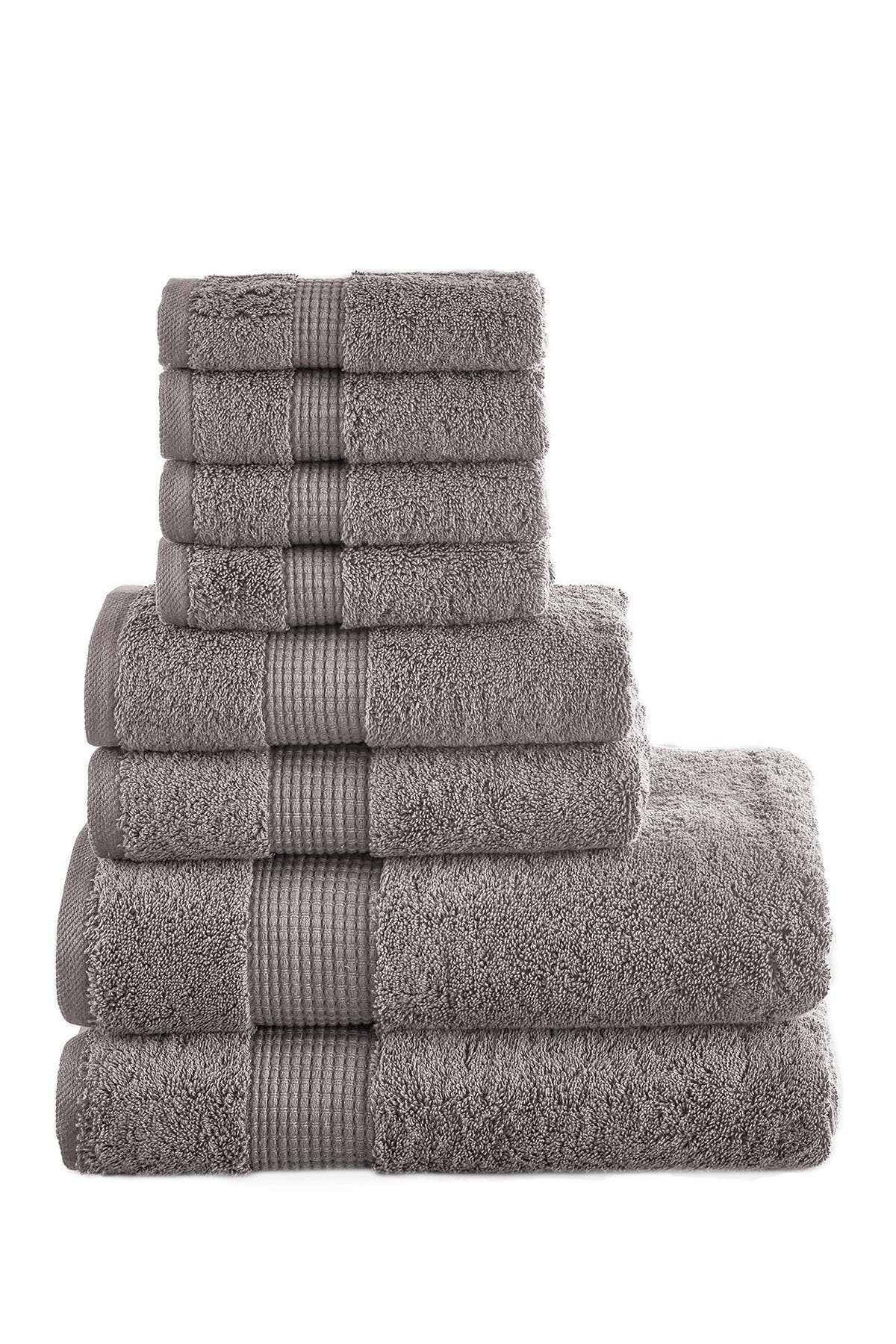 Image of Modern Threads Manor Ridge Turkish Cotton 700 GSM 8-Piece Towel Set - Taupe