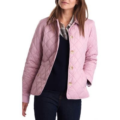 Barbour Freya Waterproof Quilted Jacket, US / 8 UK - Pink