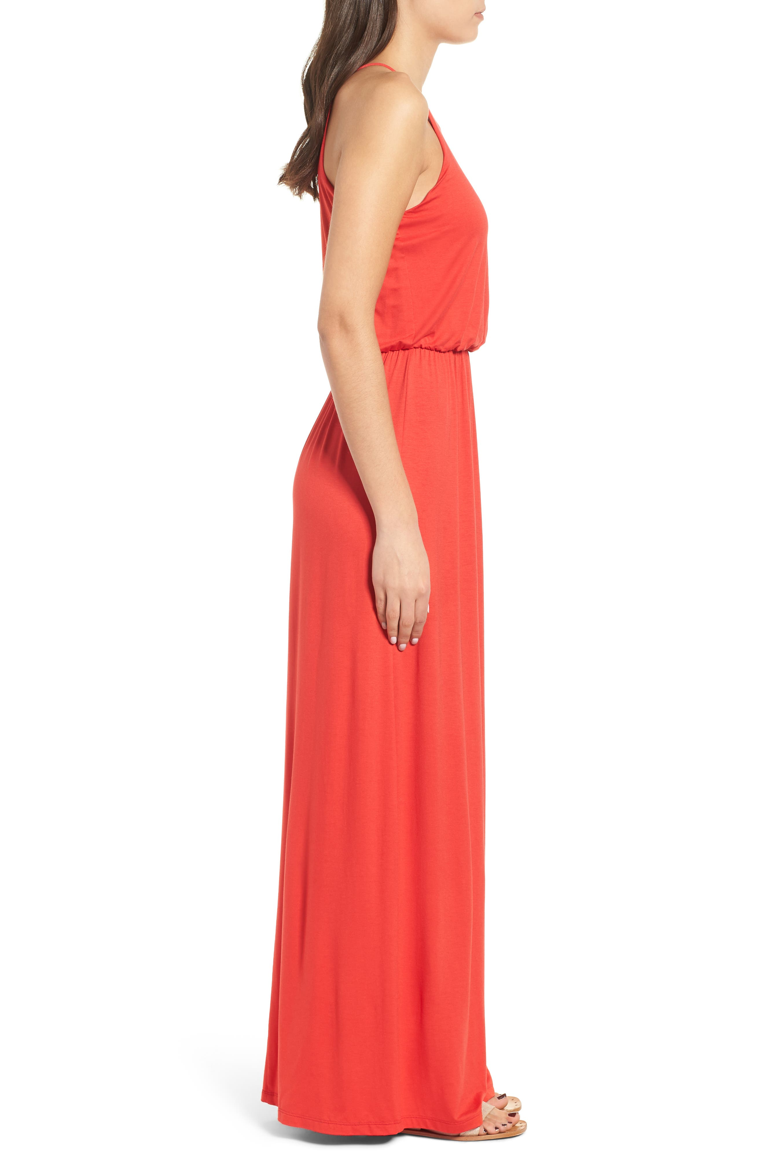 ,                             High Neck Maxi Dress,                             Alternate thumbnail 25, color,                             602