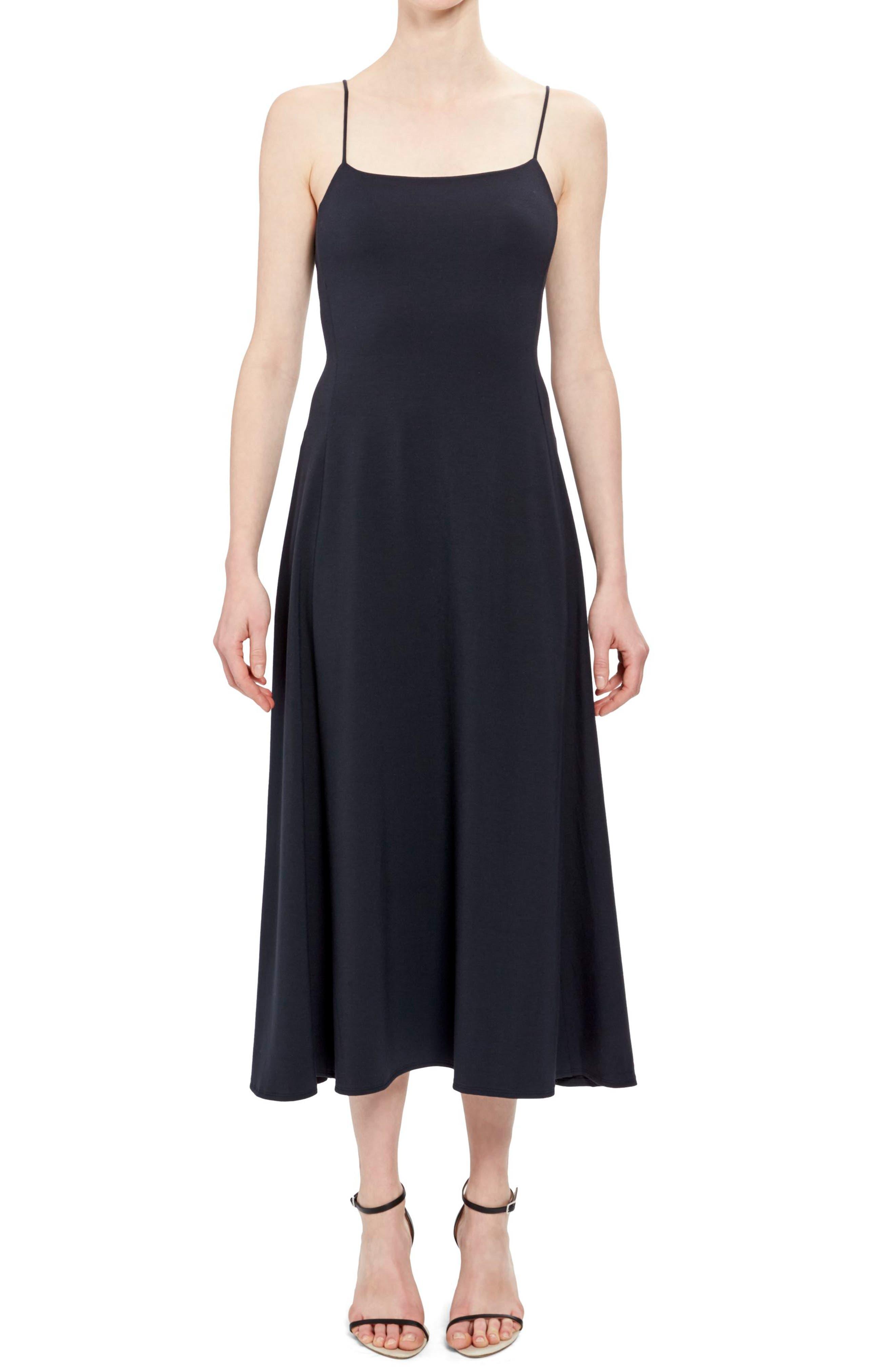 Theory Paneled Tank Midi Dress, Size Petite - Blue