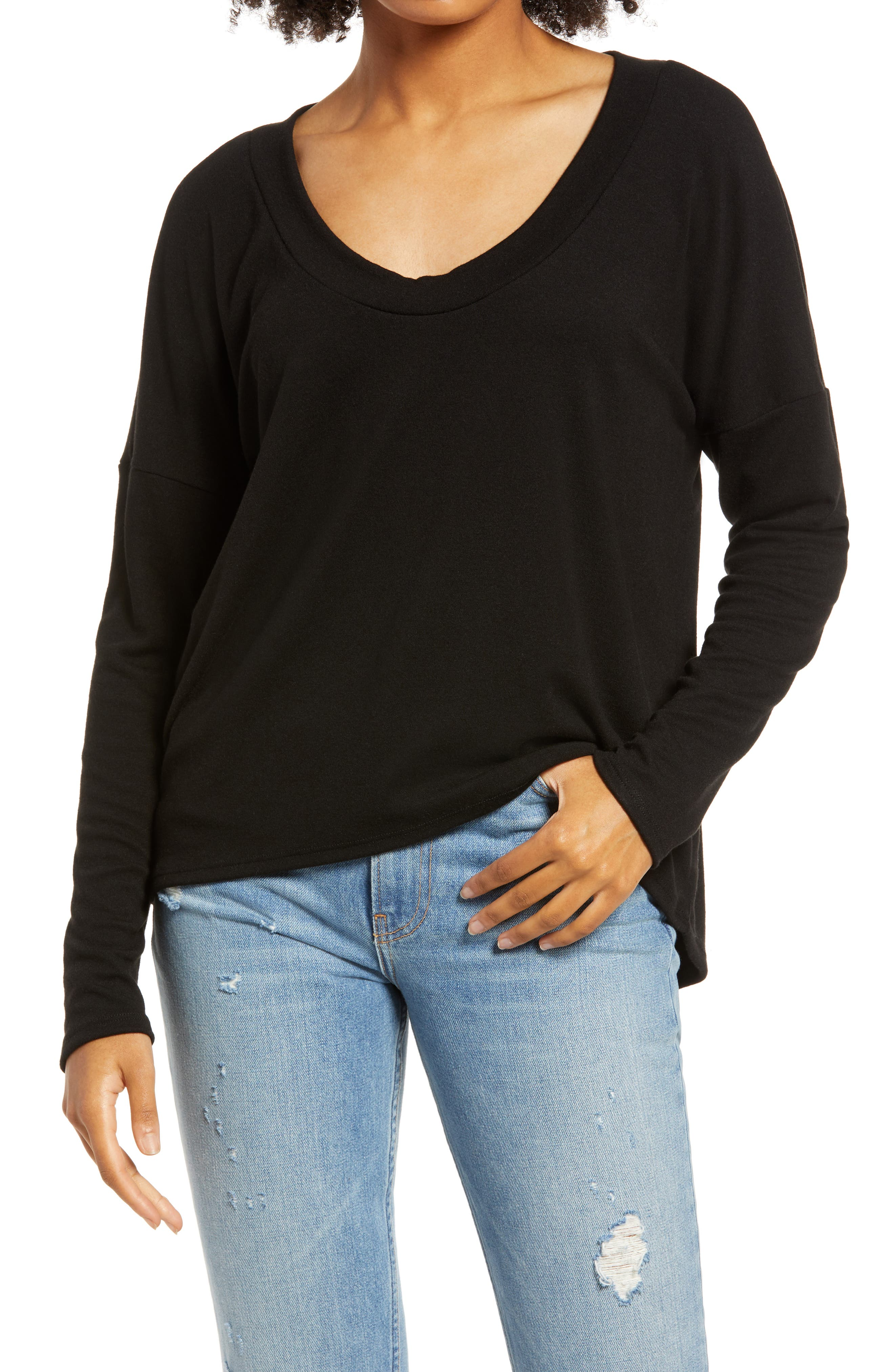 Image of LULUS Let's Warm Up Long Sleeve Pullover