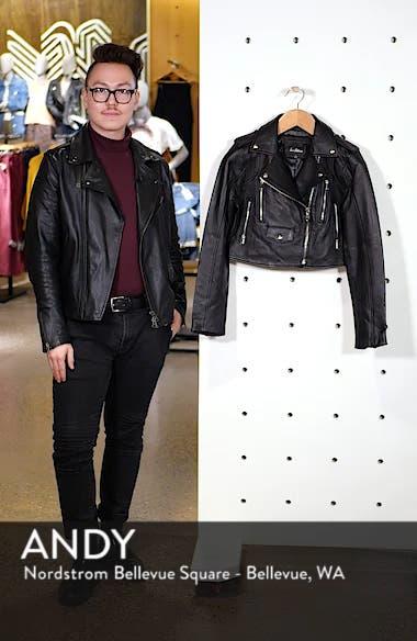 Crop Leather Moto Jacket, sales video thumbnail