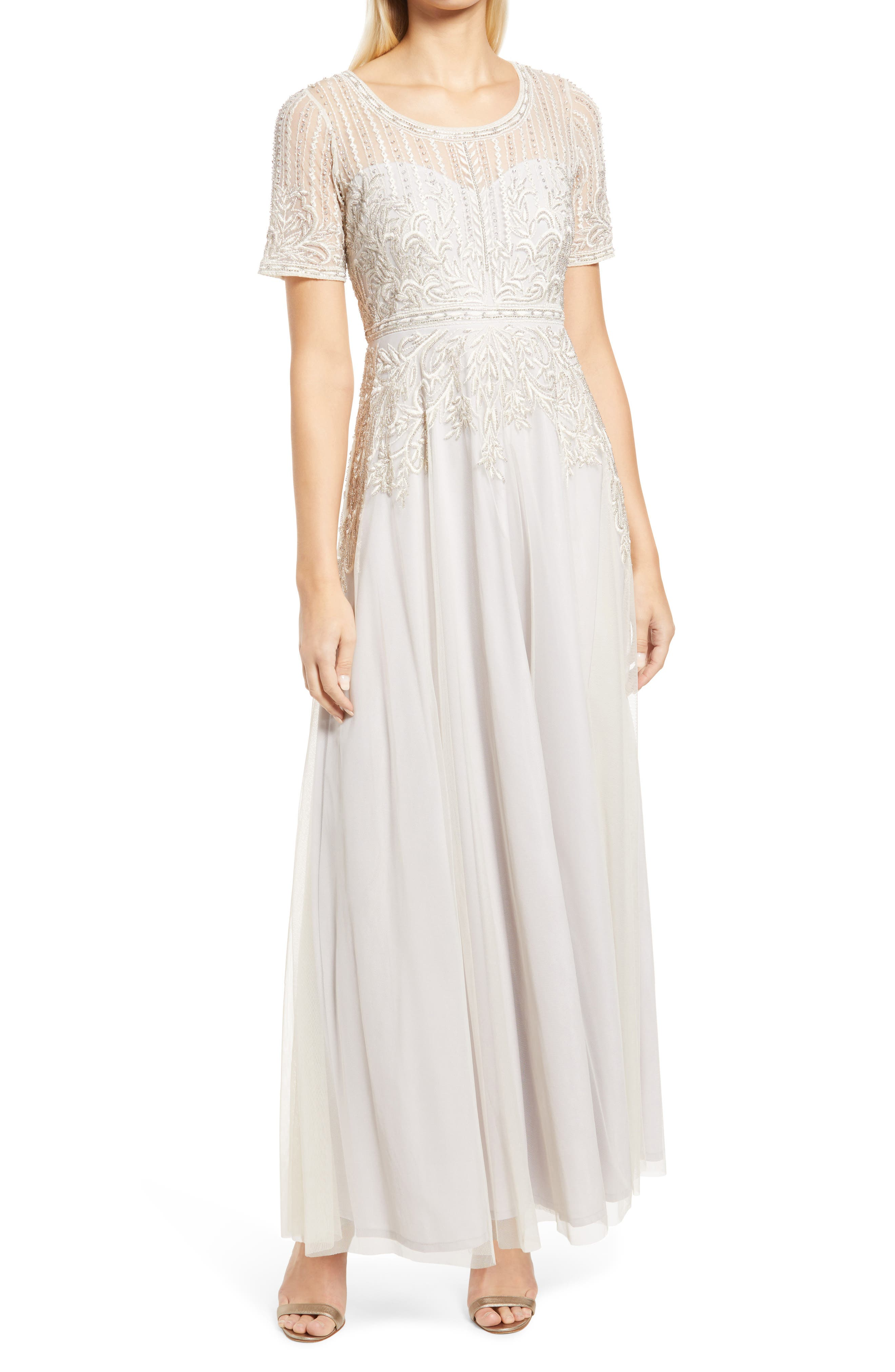 Great Gatsby Dress – Great Gatsby Dresses for Sale Womens Pisarro Nights Embroidered Beaded Gown Size 8 - Ivory $278.00 AT vintagedancer.com
