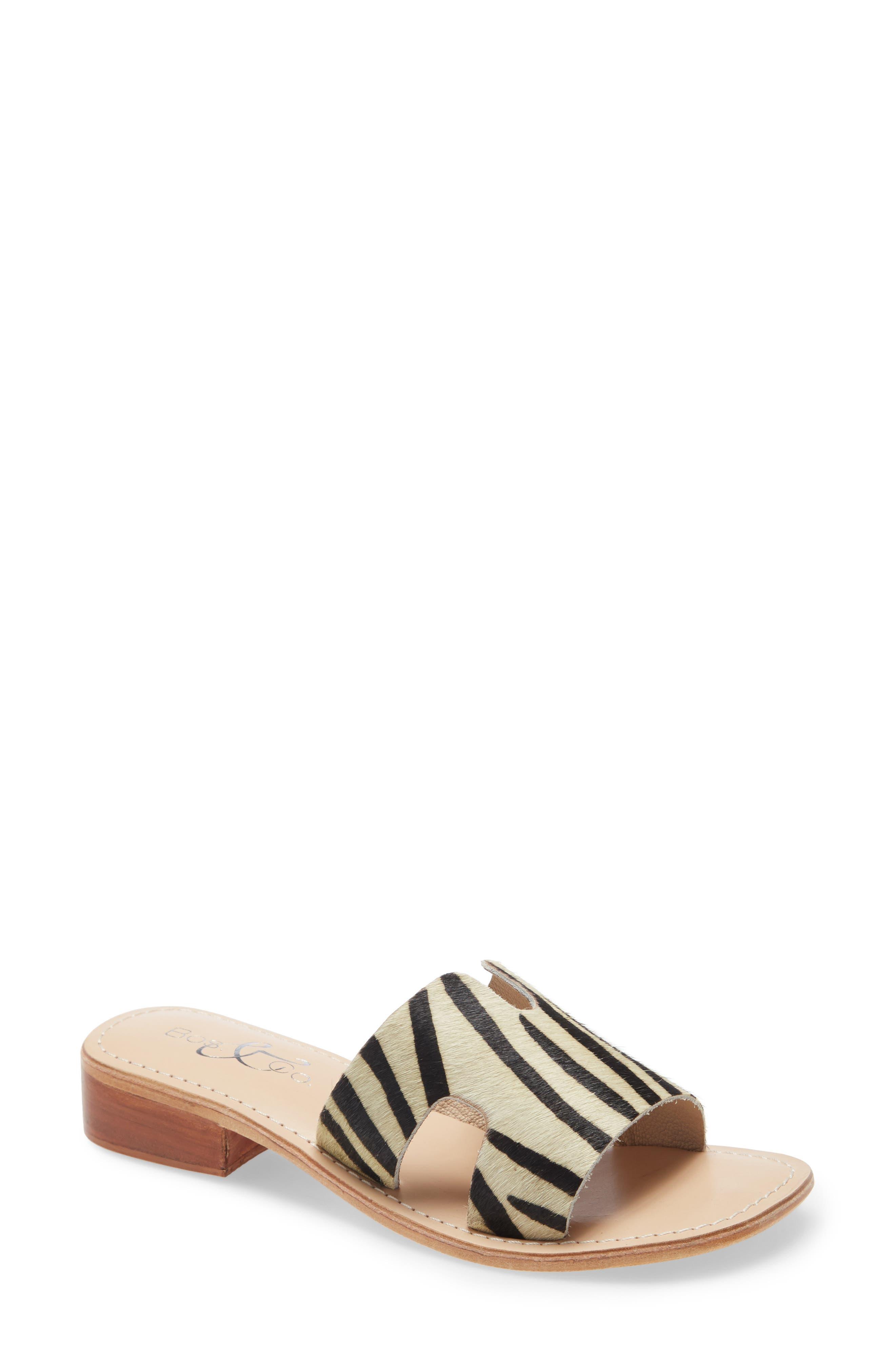 Imani Genuine Calf Hair Slide Sandal