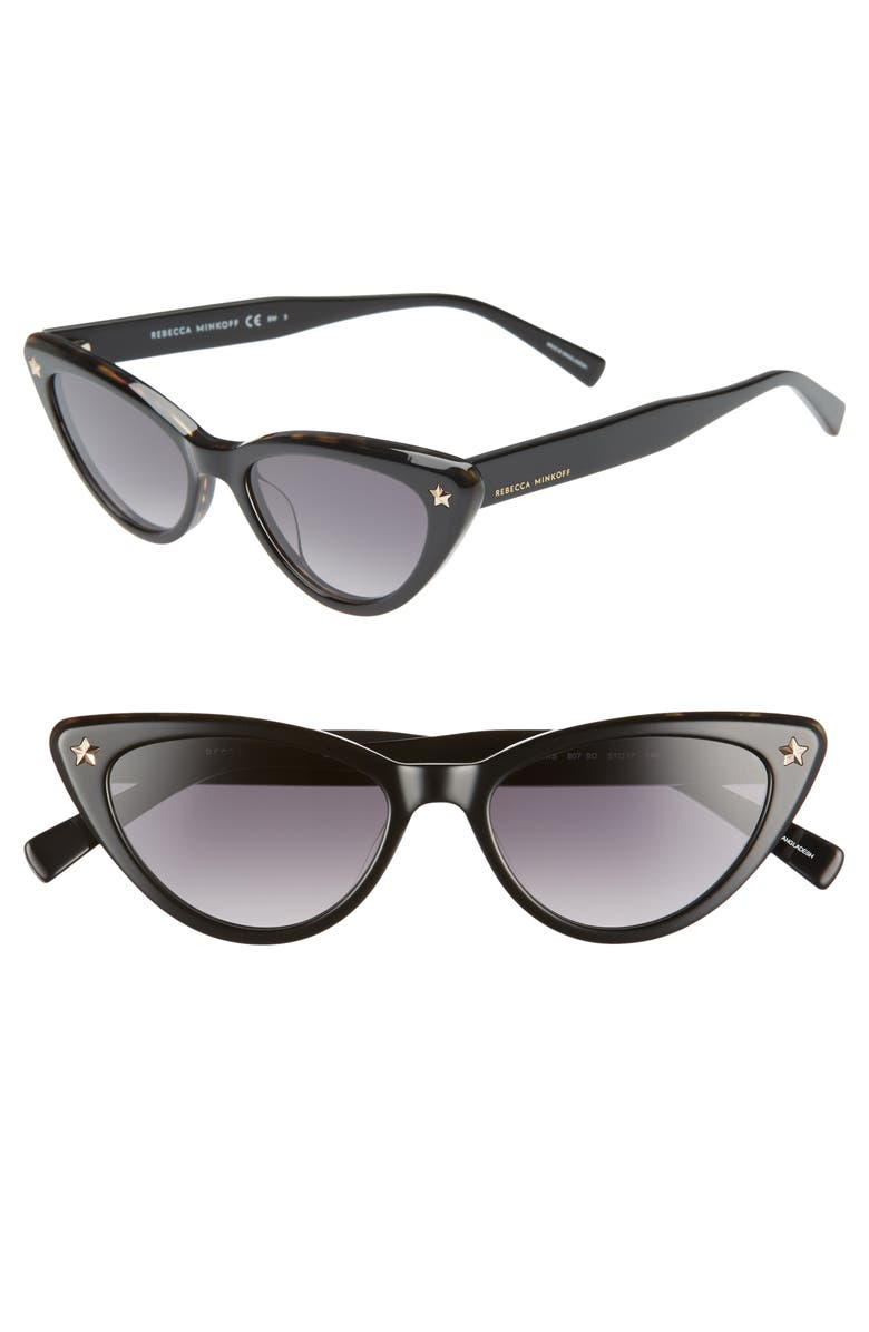 Brooke 51mm Gradient Cat Eye Sunglasses by Rebecca Minkoff
