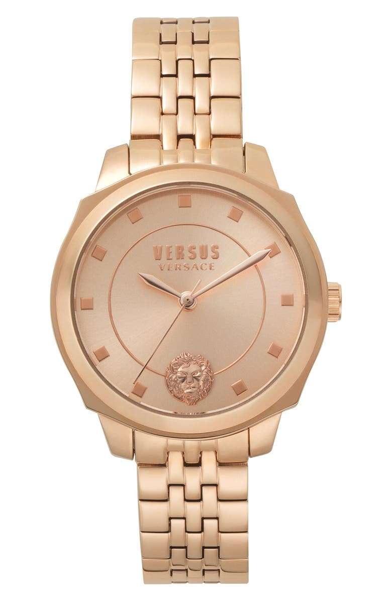 VERSUS VERSACE Chelsea Bracelet Watch, 34mm, Main, color, ROSE GOLD