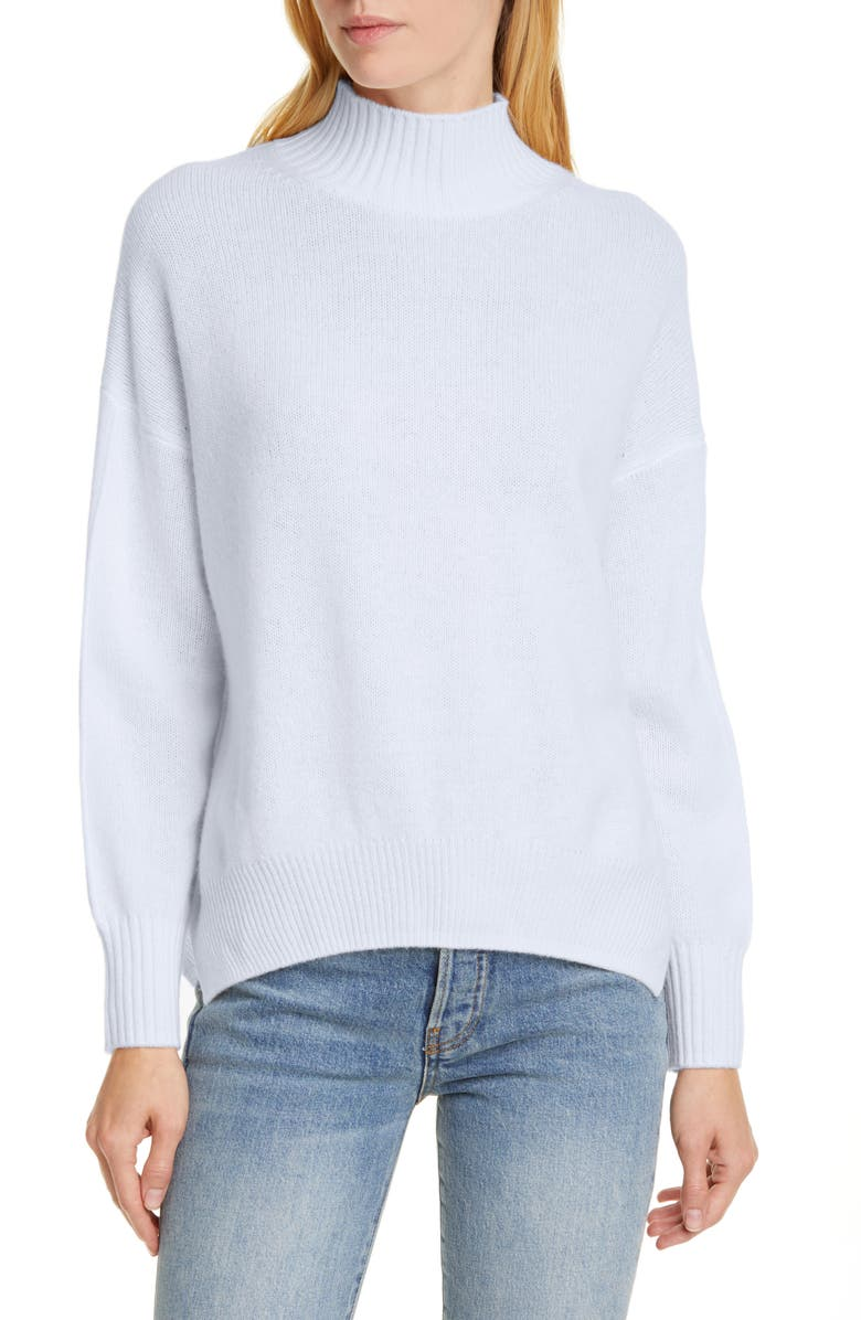 ALLUDE Mock Neck Cashmere Sweater, Main, color, 900