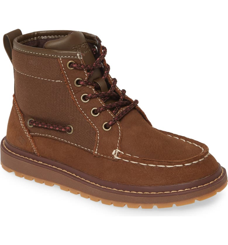 SPERRY KIDS Sperry Twisted Lug Boot, Main, color, BROWN LEATHER