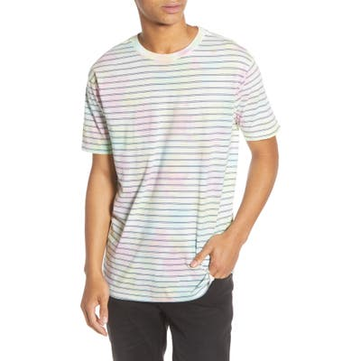 Rvca Automatic Stripe Crewneck T-Shirt, Blue