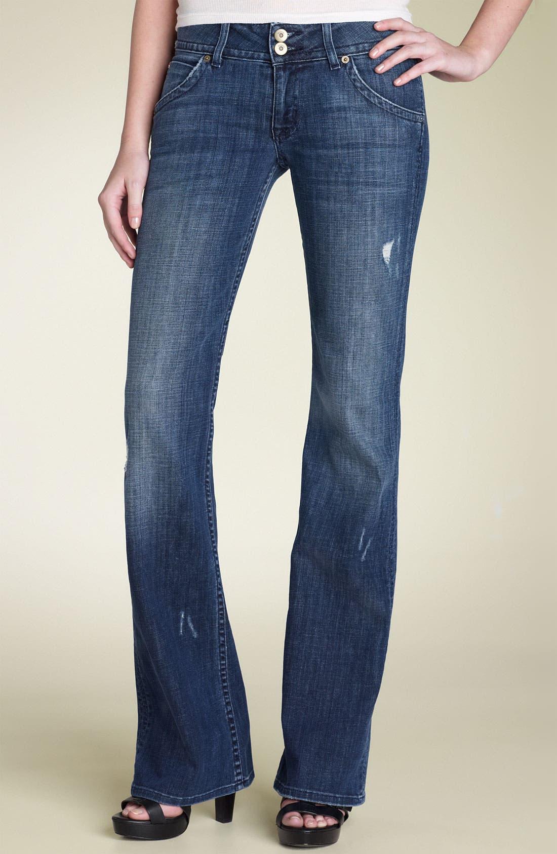 ,                             Signature Flap Pocket Bootcut Jeans,                             Main thumbnail 74, color,                             477